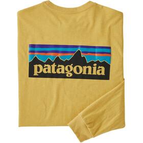 Patagonia P-6 Logo LS Responsibili Tee Men surfboard yellow